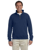 9.5 oz., 50/50 Super Sweats® NuBlend® Fleece Quarter-Zip Pullover