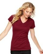 Junior Fit Fine Jersey V-Neck Longer Length T-Shirt