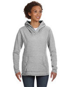 Ladies' Ringspun French Terry Crossneck Hooded Sweatshirt