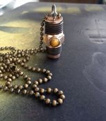 Men's Screw Bolt Necklace with Stone