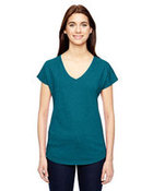 Ladies' Triblend V-Neck T-Shirt